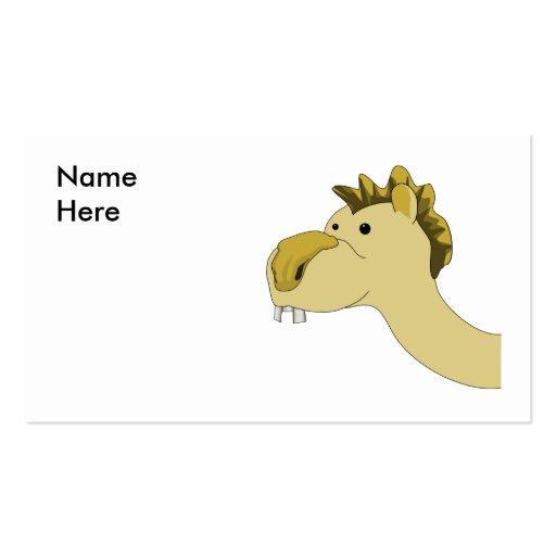 Camello lindo del dibujo animado tarjeta de visita