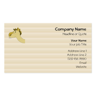 Camello lindo del dibujo animado plantilla de tarjeta personal