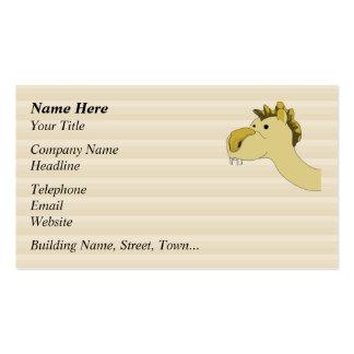 Camello lindo del dibujo animado plantillas de tarjetas de visita