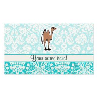 Camello lindo del dibujo animado tarjetas de visita