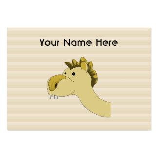 Camello lindo del dibujo animado tarjetas de visita grandes