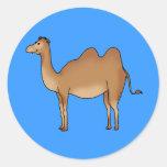 Camello lindo pegatina redonda