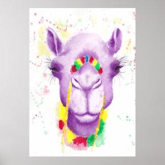 """Camello loco 20"""" x 16"""", papel de poster (mate) póster"""