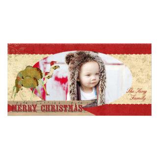 Camellos soñadores de marfil y tarjeta roja de la tarjetas fotográficas personalizadas