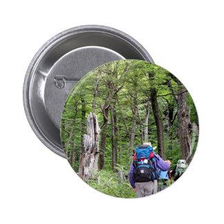 Caminando a través de árboles, Torres del Paine Pins