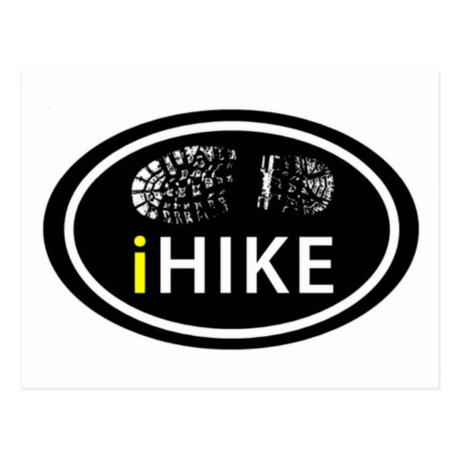 """Caminando la bota oval del """"iHIKE"""" imprima la post Postal"""