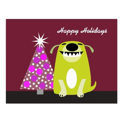 Caminante del perro/día de fiesta veterinario tarjeta postal