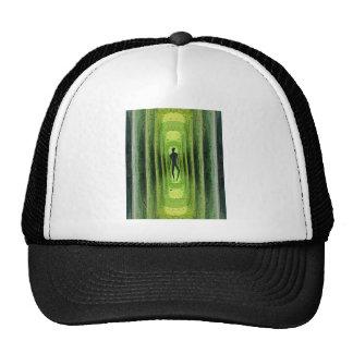Caminante verde delgado gorras