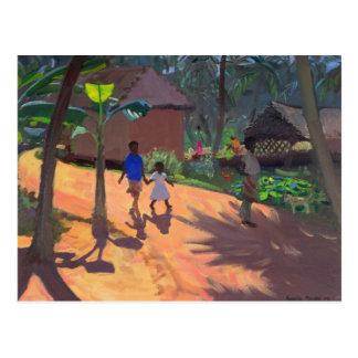 Camino a la playa Kerala 1996 de Kovalum Postal