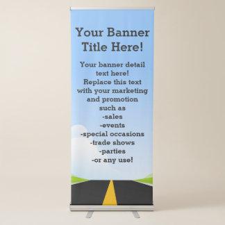 Camino al negocio promocional futuro corporativo pancarta retráctil