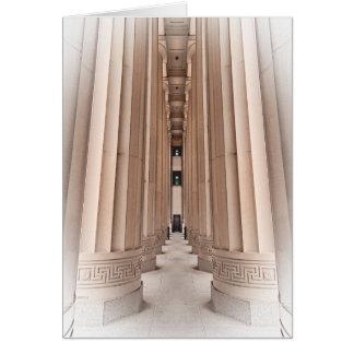 Camino arquitectónico de pilares tarjeta de felicitación
