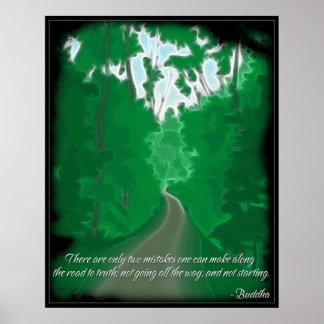 Camino de Buda al poster de la cita de la verdad