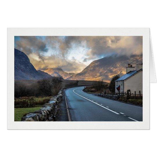 Camino de la montaña en País de Gales Tarjeta De Felicitación