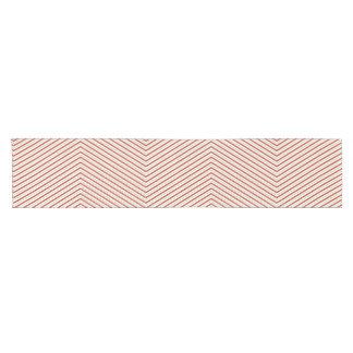 Camino De Mesa Corto Corredor blanco verde rojo de la tabla del zigzag