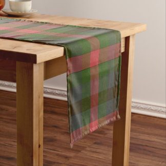 Camino De Mesa Corto Corredor de la tabla de la tela escocesa de los