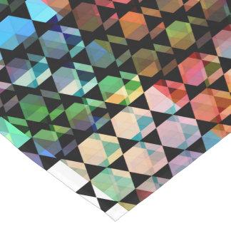 Camino De Mesa Corto Diseño gráfico del hexágono abstracto