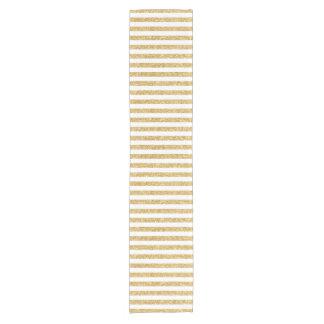 Camino De Mesa Corto Falso brillo elegante del oro y modelo blanco de