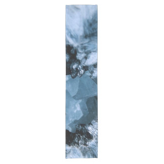 Camino De Mesa Corto Fantasía azul cristalina