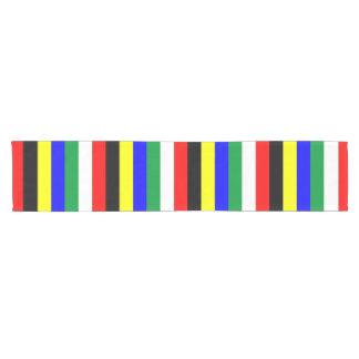 Camino De Mesa Corto La bandera de Suráfrica raya las líneas símbolo