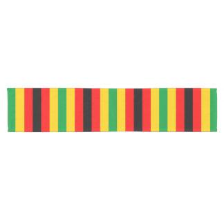 Camino De Mesa Corto La bandera de Zimbabwe raya las líneas colores del
