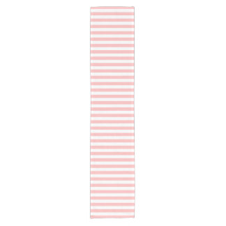 Camino De Mesa Corto Modelo rosado y blanco de la raya