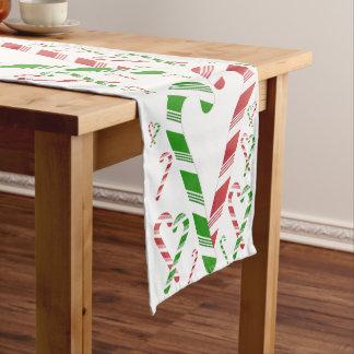 Camino De Mesa Corto Navidad rojo y corredor verde de la tabla del