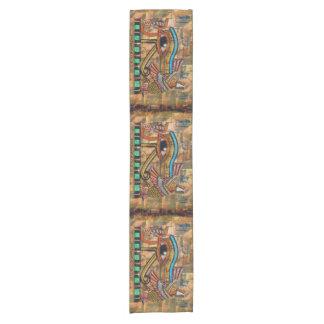 Camino De Mesa Corto Ojo egipcio antiguo del Tabla-corredor de Horus