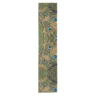 Camino De Mesa Corto Plumas estilizadas del pavo real