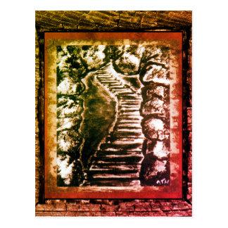 Camino de piedra postal