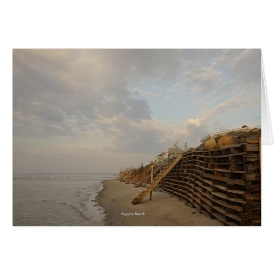 Camino del naufragio de la alta marea de la playa tarjeta pequeña