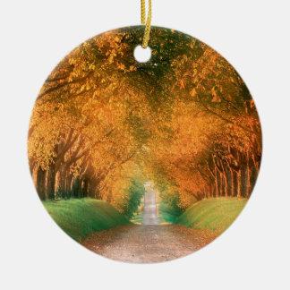 Camino Francia del otoño del árbol Ornamentos Para Reyes Magos