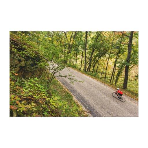 Camino que completa un ciclo en la carretera impresiones de lienzo