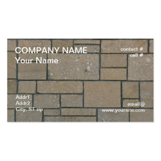 camino rectangular del bloque tarjeta de negocio