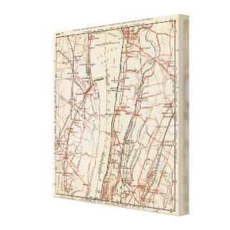 Caminos de la bicicleta en Nueva York y Connecticu Impresión En Lona