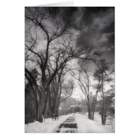 Caminos del invierno tarjeta de felicitación