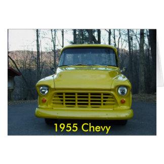 Camión 1955 de Chevy Tarjeta