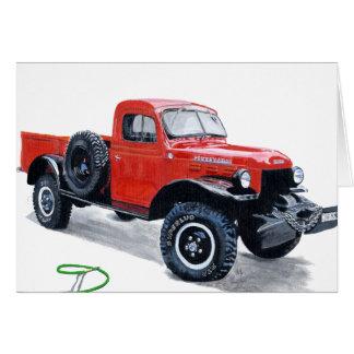 Camión antiguo Notecard del carro del poder Tarjeta Pequeña