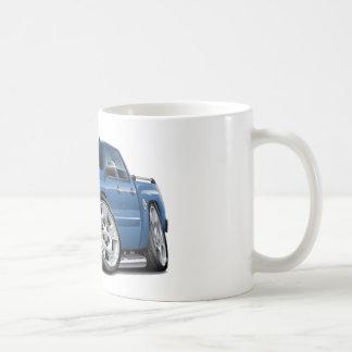 Camión azul del granito de Chevy Silverado Dualcab Taza De Café