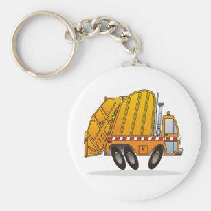 Llavero Camión de basura anaranjado