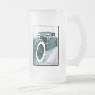 camión de la barra de la rata taza cristal mate