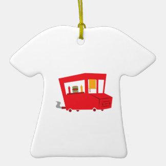 Camión de la comida adorno de cerámica en forma de camiseta