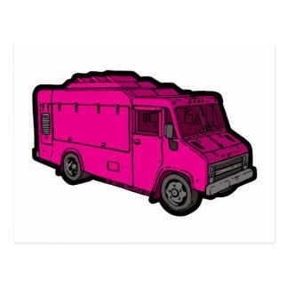Camión de la comida: Básico (rosa) Postal