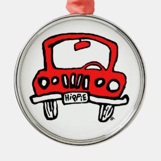 camión del hippie ornamentos de navidad