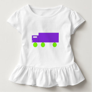 Camión púrpura camiseta de bebé
