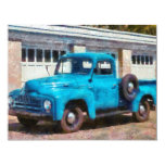Camión - un camión viejo internacional invitación 10,8 x 13,9 cm