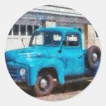 Camión - un camión viejo internacional pegatina redonda