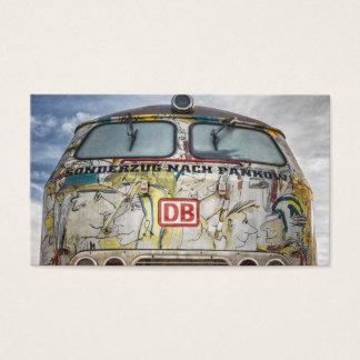 Camión viejo de la pintada tarjeta de visita