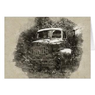 Camión viejo tarjeta pequeña