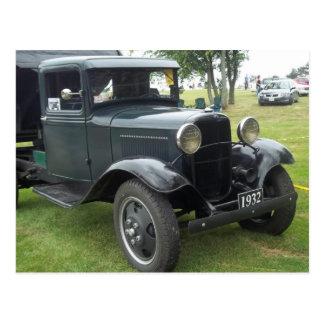 camión volquete clásico antiguo 1932 postal