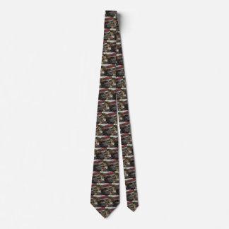 Camión volquete del negocio del vintage en un corbata personalizada